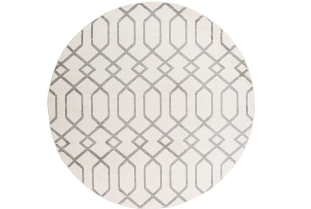 94 Inch Round Rug-Conrad Ivory/Grey