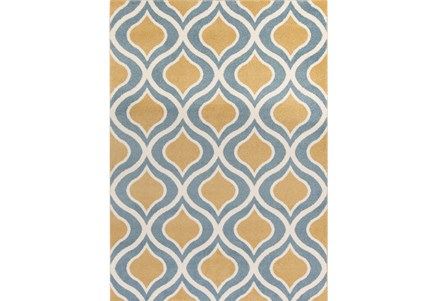 24X36 Rug-Ornate Gold/Blue