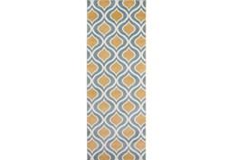 31X87 Rug-Ornate Gold/Blue
