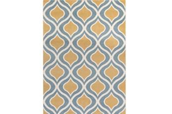 111X150 Rug-Ornate Gold/Blue