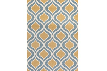 111X150 Rug-Ornate Gold/Blue