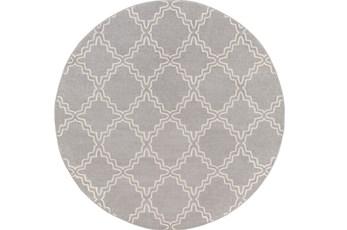 94 Inch Round Rug-Temblor Grey
