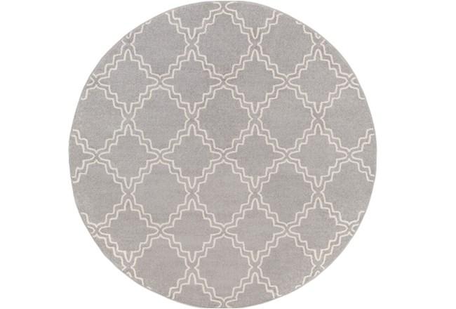 94 Inch Round Rug-Temblor Grey - 360