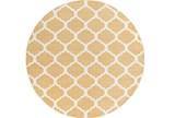 94 Inch Round Rug-Anor Gold - Signature