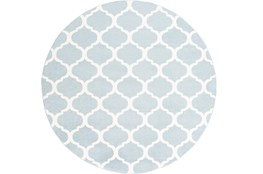 94 Inch Round Rug-Anor Sky Blue