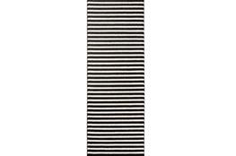 31X87 Rug-Karah Stripe Black