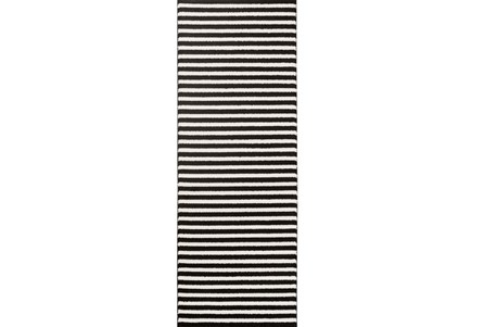 31X87 Rug-Karah Stripe Black