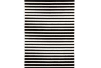 """3'3""""x5' Rug-Karah Stripe Black"""