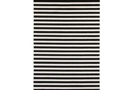 63X87 Rug-Karah Stripe Black - Main