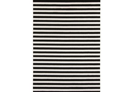 79X114 Rug-Karah Stripe Black