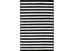94X123 Rug-Karah Stripe Black