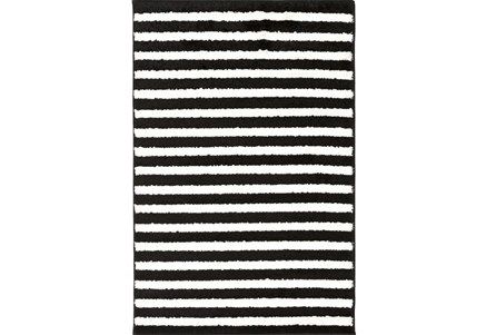 94X123 Rug-Karah Stripe Black