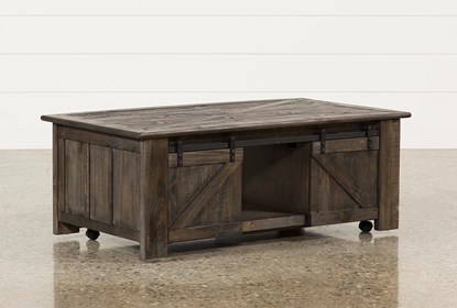 Grant Lift Top Coffee Table W Casters Living Spaces