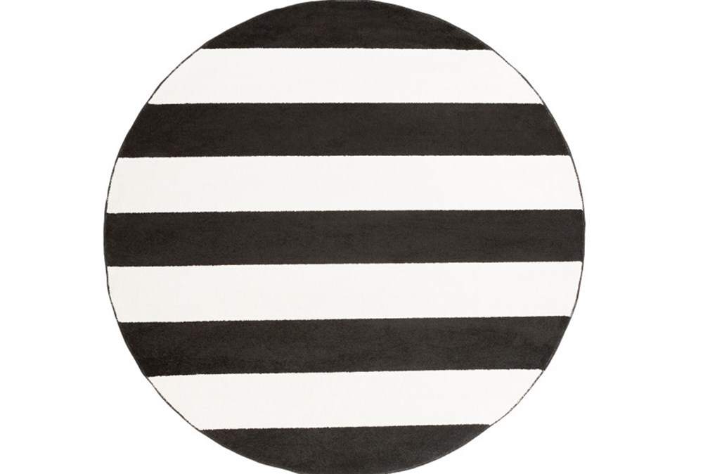 94 Inch Round Rug-Limba Black