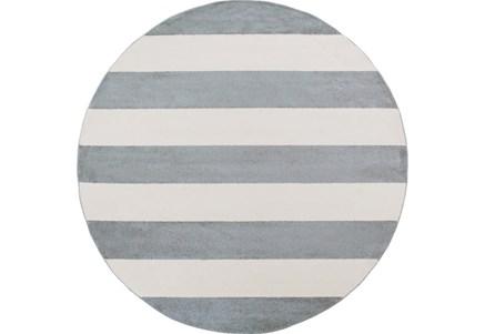 94 Inch Round Rug-Limba Grey