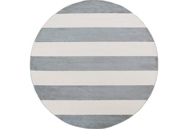 94 Inch Round Rug-Limba Grey - 360