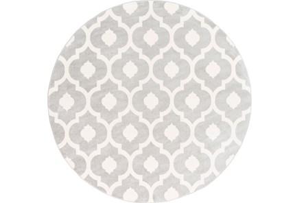 94 Inch Round Rug-Pompeii Grey