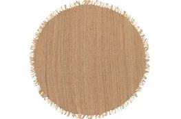 72 Inch Round Rug-Saluti Beige