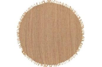 96 Inch Round Rug-Saluti Beige