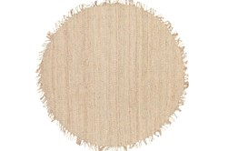 6' Round Rug-Pickett Natural