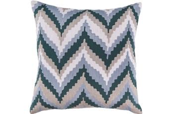 Accent Pillow-Blue Chevron Waves 22X22