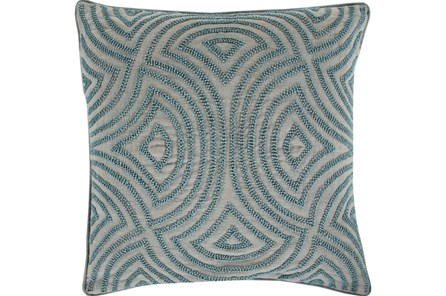 Accent Pillow-Zinnia Blue 20X20 - Main