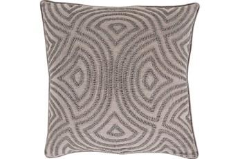 Accent Pillow-Zinnia Grey 20X20