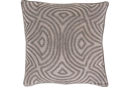 Accent Pillow-Zinnia Grey 22X22
