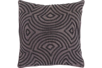 Accent Pillow-Zinnia Charcoal 20X20