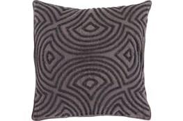 Accent Pillow-Zinnia Charcoal 22X22