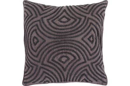 Accent Pillow-Zinnia Charcoal 22X22 - Main