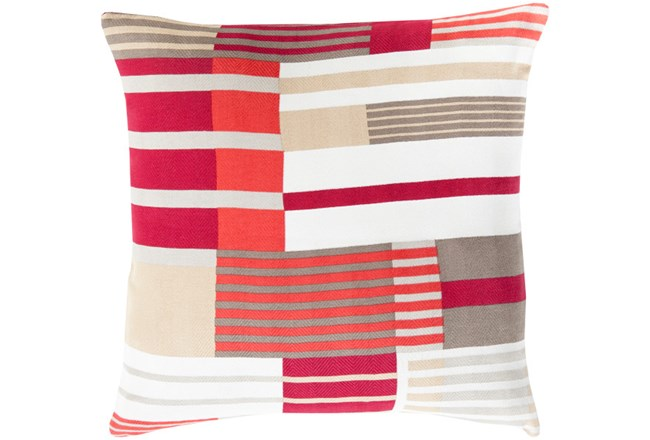 Accent Pillow-Red Chloe Plaid 22X22 - 360