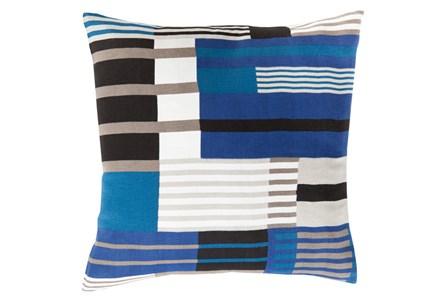 Accent Pillow-Blue Chloe Plaid 18X18