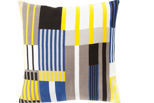 Accent Pillow-Yellow Chloe Plaid 22X22 - 360