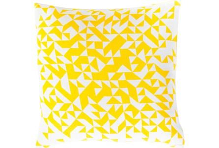 Accent Pillow- Elisa Yellow Pixels 18X18 - Main