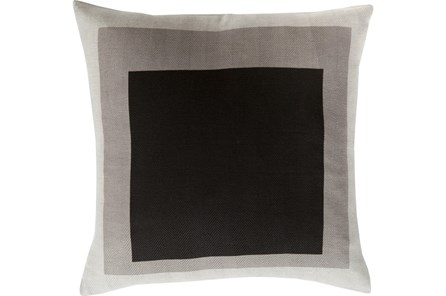 Accent Pillow- Seraphina Black Squares 22X22 - Main