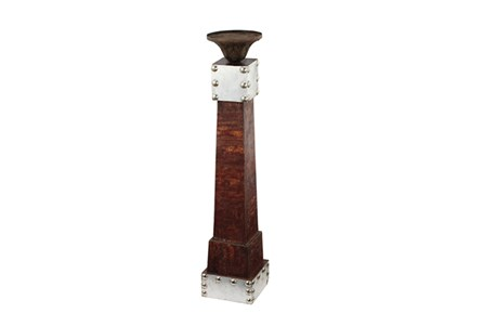25 Inch Brown Candleholder