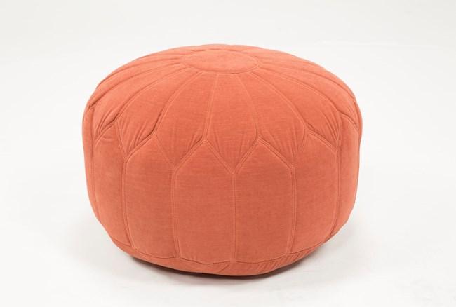 Pouf-Veronique Tangerine - 360