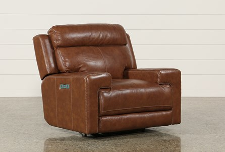 Waylon Leather Power Recliner W/Power Headrest & Usb