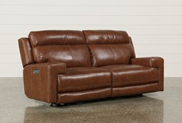 Waylon Leather Power Dual Sofa W/Power Headrest & Usb