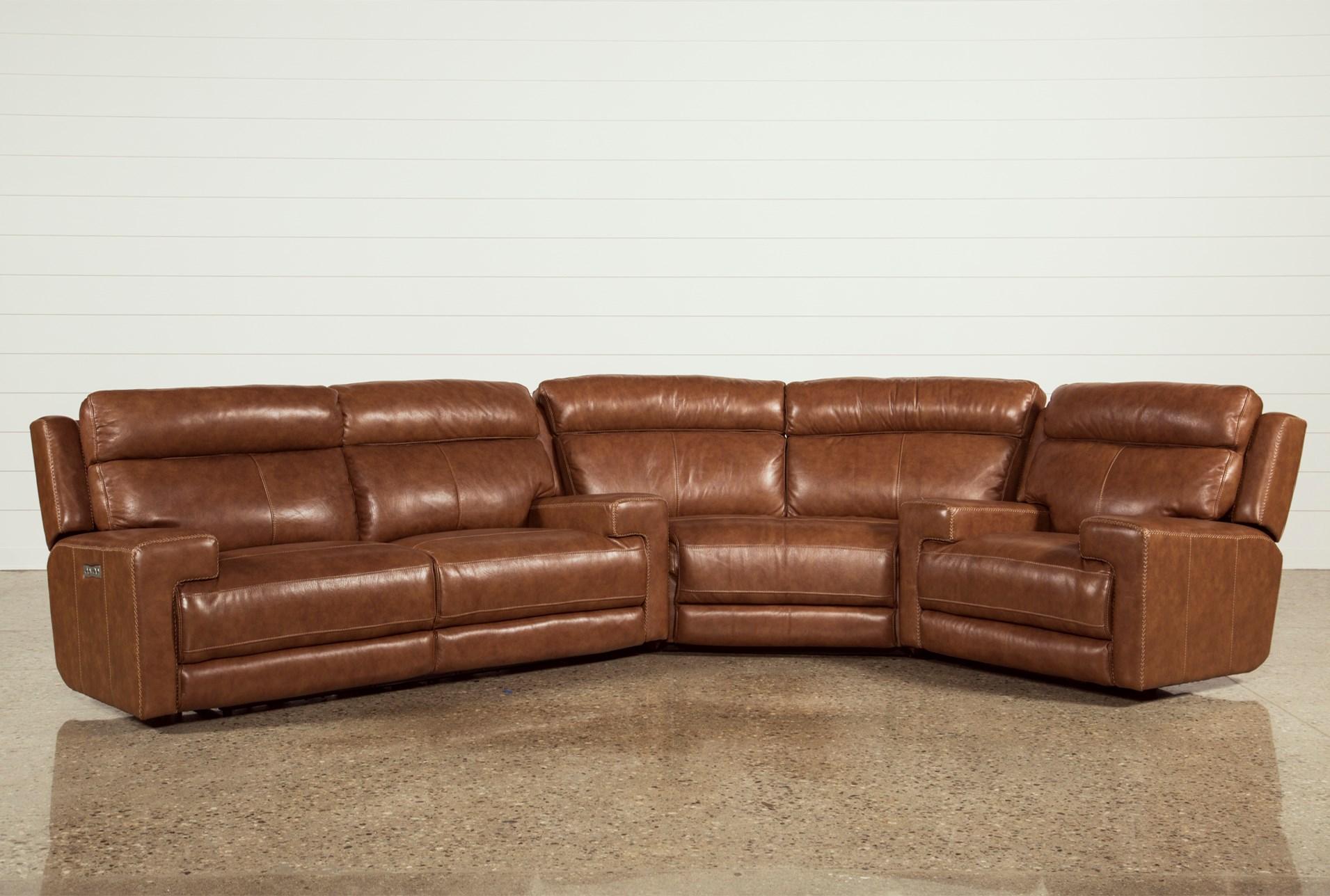 Waylon Leather Power Dual Sofa W Power Headrest & Usb