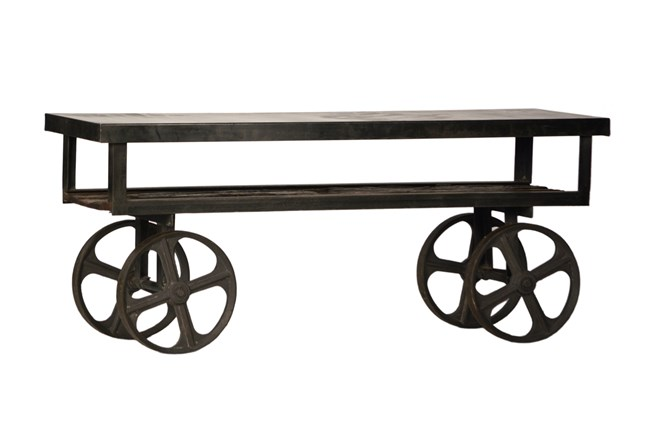 26 Inch Gunmetal Iron Trolley - 360