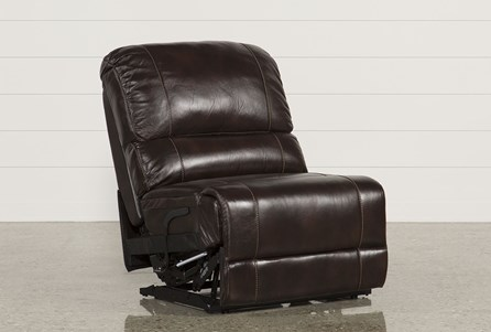 Payton Leather Power Armless Recliner