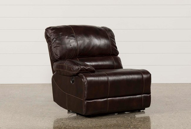 Payton Leather Power Left Facing Recliner - 360