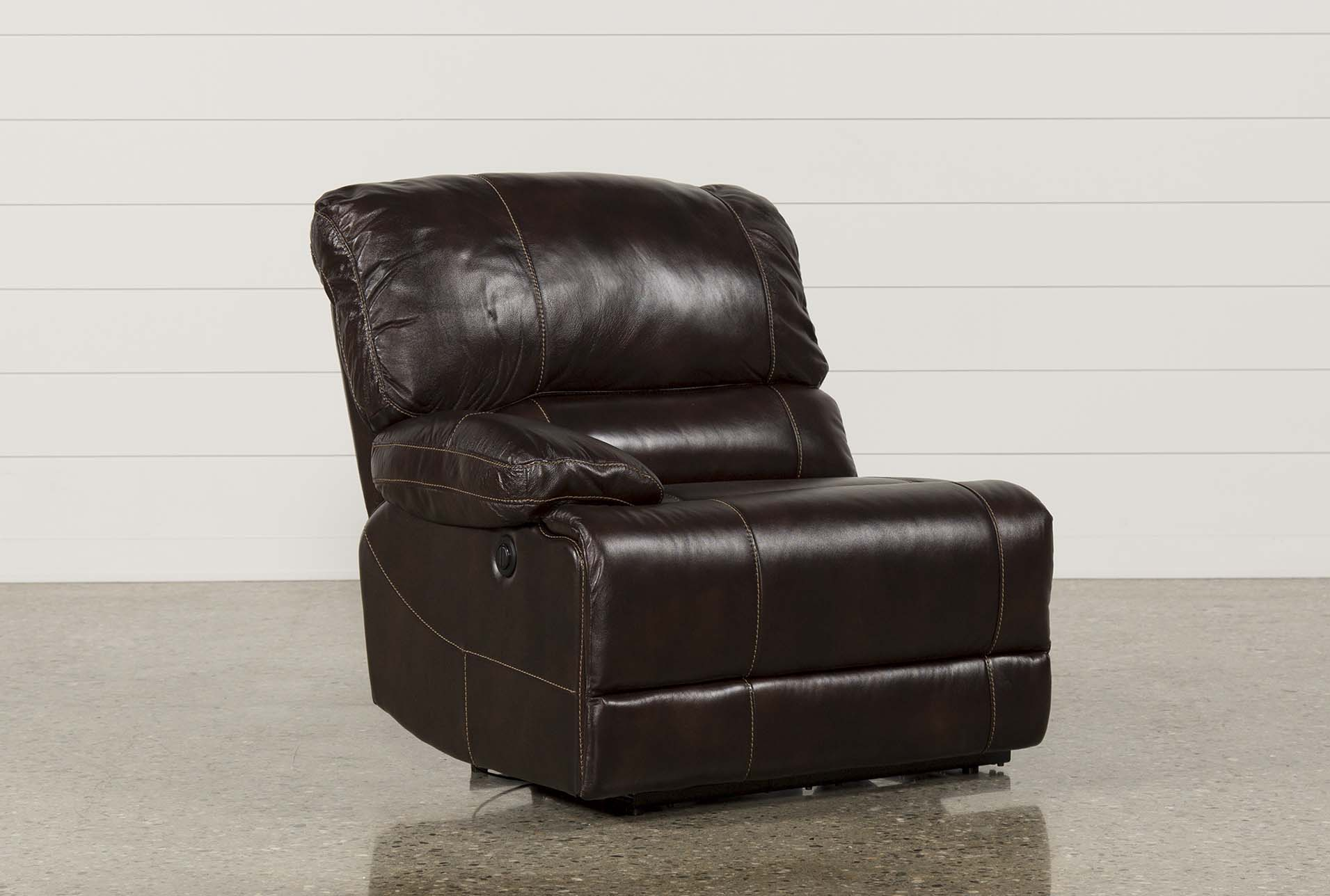 Exceptional Payton Leather Power Left Facing Recliner (Qty: 1) Has Been Successfully  Added To Your Cart.