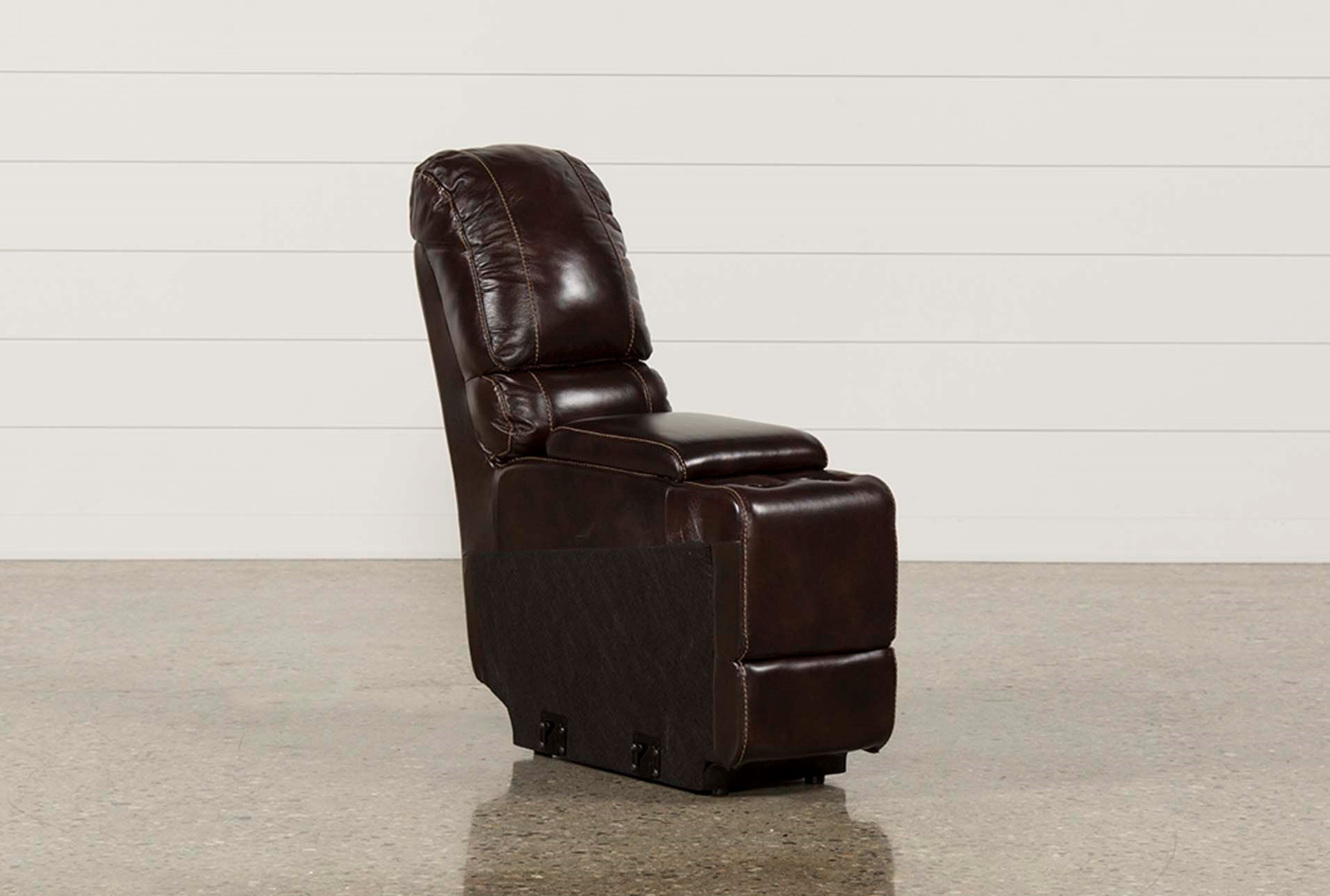 Payton Leather Straight Console W Usb Hub Living Spaces ~ Payton Power Reclining Sofa