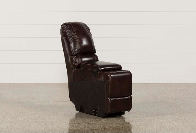 Payton Leather Straight Console W/ Usb Hub - 360