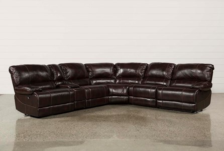 Payton 6 Piece Sectional W/Manual Armless Recliner