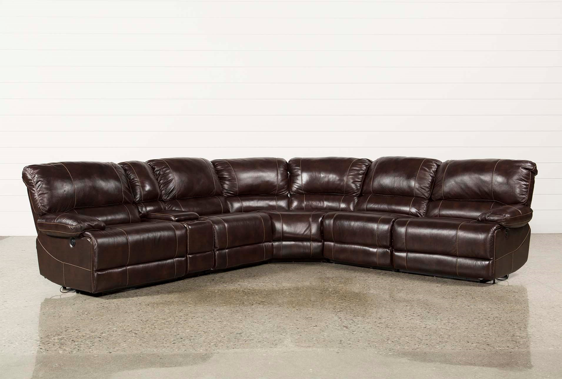 Payton 6 Piece Sectional W Manual Armless Recliner