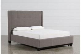 Damon Stone California King Upholstered Platform Bed W/Storage